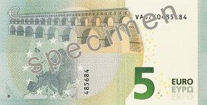 Rückseite des 5-Euro-Scheins - Quelle: EZB