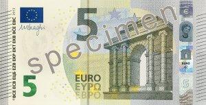 Vorderseite des 5-Euro-Scheins - Quelle: EZB
