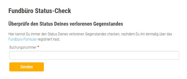 Status Check beim Flixbus Fundbüro