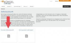 Selbstauskunft anfordern bei Bürgel Wirtschaftsinformationen GmbH & Co. KG
