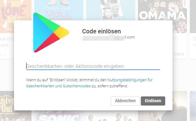 Google Play Kontostand
