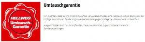 Umtauschgarantie Hellweg.de