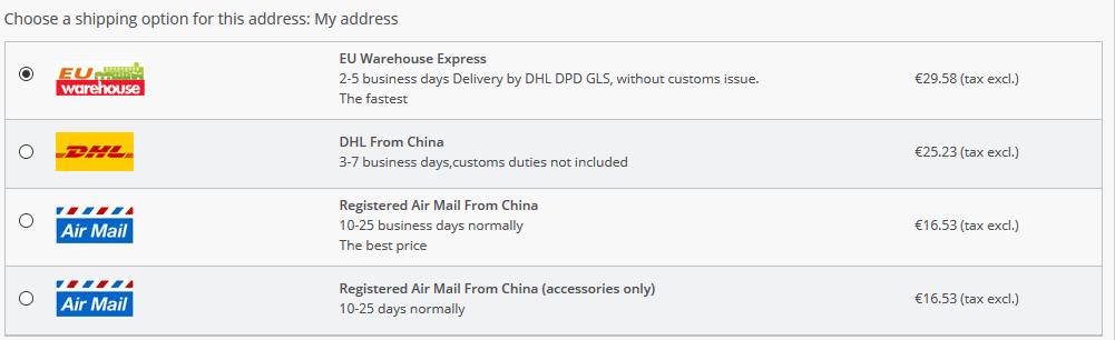 Der Versand bei Honorbuy ist nicht kostenlos.