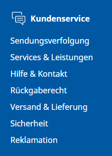 Auf der IKEA Website finden Sie den Hilfebereich