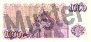 1000 Isländische Kronen (Rückseite)