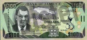 100 Jamaika-Dollar (Vorderseite)
