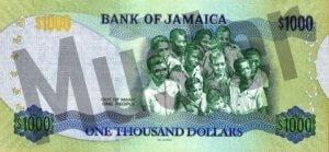1000 Jamaika-Dollar (Rückseite)
