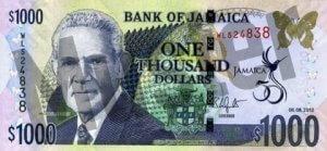 1000 Jamaika-Dollar (Vorderseite)