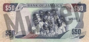 50 Jamaika-Dollar (Rückseite)