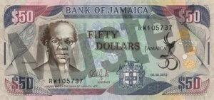 50 Jamaika-Dollar (Vorderseite)