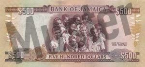 500 Jamaika-Dollar (Rückseite)