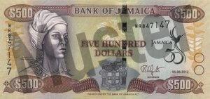 500 Jamaika-Dollar (Vorderseite)