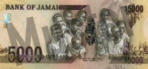 5000 Jamaika-Dollar (Rückseite)