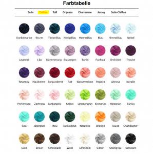 Farbauswahl für Chiffonkleider