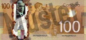 100 kanadische Dollar (Rückseite)