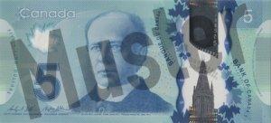 5 kanadische Dollar (Vorderseite)