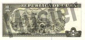 1 Peso (Rückseite)