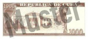 1000 Peso (Rückseite)
