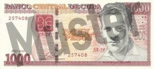 1000 Peso (Vorderseite)