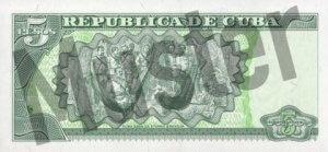 5 Peso (Rückseite)