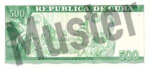 500 Peso (Rückseite)