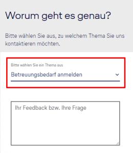 Lufthansa Kontaktformular
