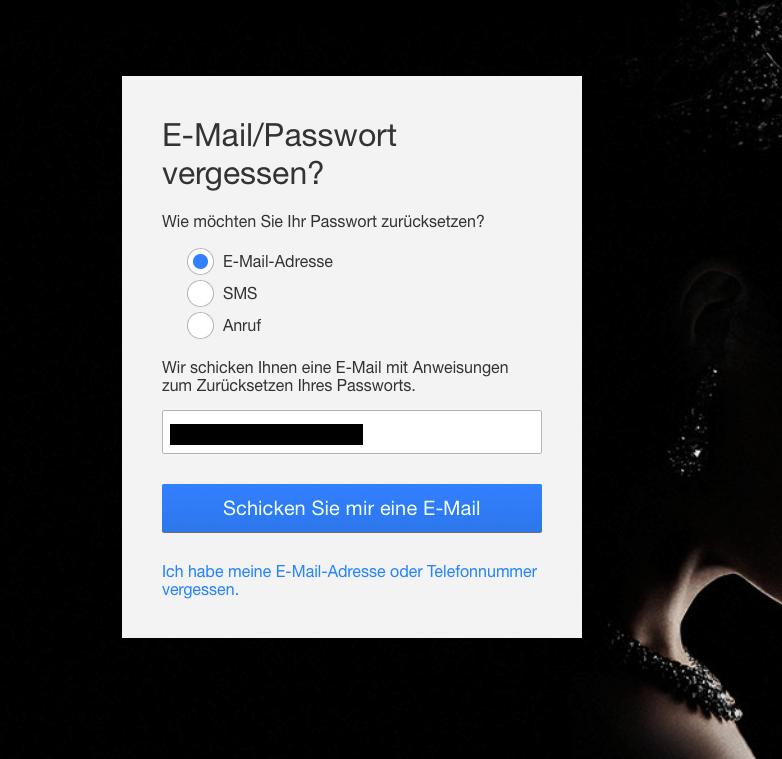 Netflix Passwort ändern per Mail