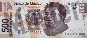 500 mexikanische Pesos (MXN) - Banknote / Geldschein - Vorne / Vorderseite