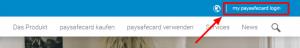 my paysafecard-login