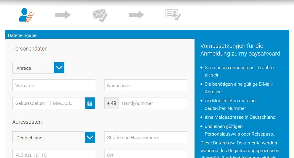 Paysafecard Konto Erstellen