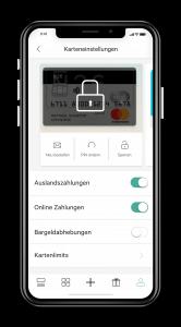 kreditkarte sperren in der n26 app