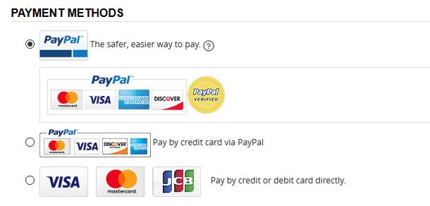Bezahlen Sie am Besten per PayPal bei NastyDress