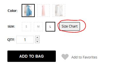 Bei NastyDress sollten Sie darauf achten, die richtige Größe zu bestellen