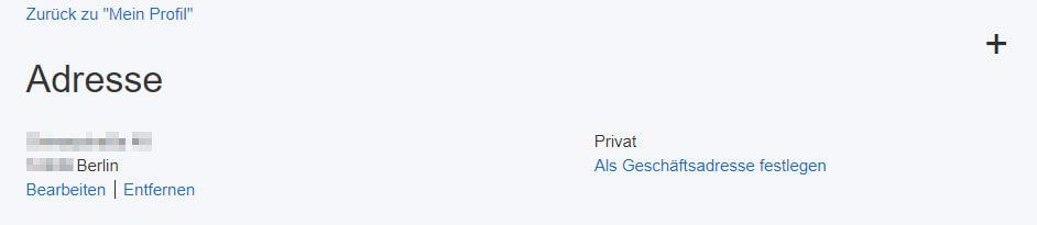 Postadresse bei PayPal ändern