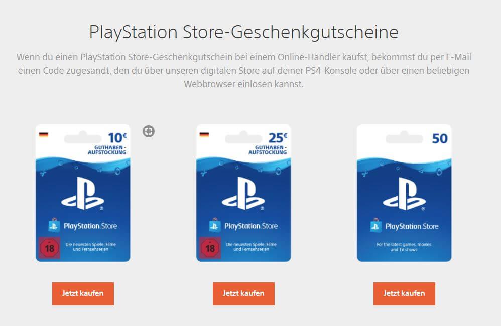 PlayStation Guthaben kaufen