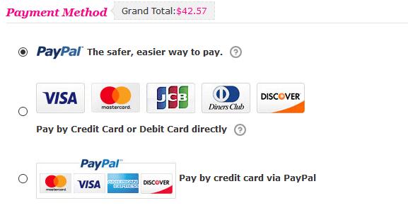Bezahlen Sie wenn möglich per PayPal bei Rosewholesale