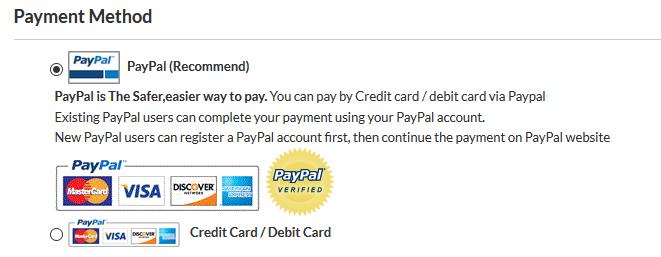 Bezahlen Sie bei Rotita per PayPal