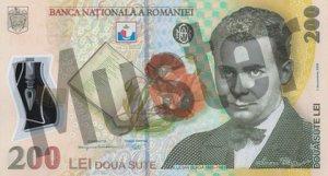 200 rumänischer Leu (RON) - Banknote /Geldschein - Vorne / Vorderseite