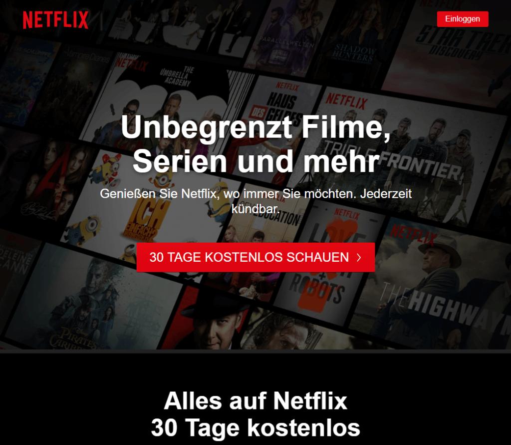 Netflix kostenlos testen