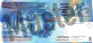 100 Schweizer Franken - CHF - Vorne