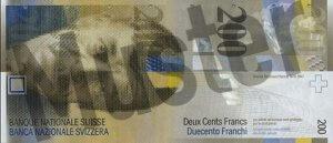 200 Schweizer Franken - CHF (Banknote / Geldschein) - Vorne