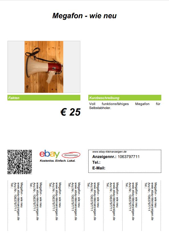 Ebay Anzeigennummer
