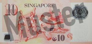 10 Singapur-Dollar (Rückseite)