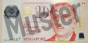 10 Singapur-Dollar (Vorderseite)