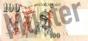 100 Singapur-Dollar (Rückseite)