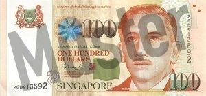 100 Singapur-Dollar (Vorderseite)
