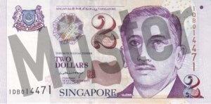 2 Singapur-Dollar (2 Singapur-Dollar (Vorderseite)