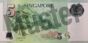 5 Singapur-Dollar (Rückseite)