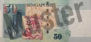 50 Singapur-Dollar (Rückseite)