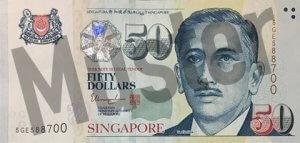 50 Singapur-Dollar (Vorderseite)
